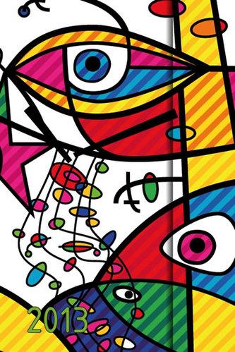 Diář 2013 - Eyes - 10,5 x 15,8 - 6jazyčné (ČES, SLO, MAĎ, POL, ANG, NĚM)