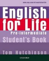 English for life Pre-Intermediate Student´s book
