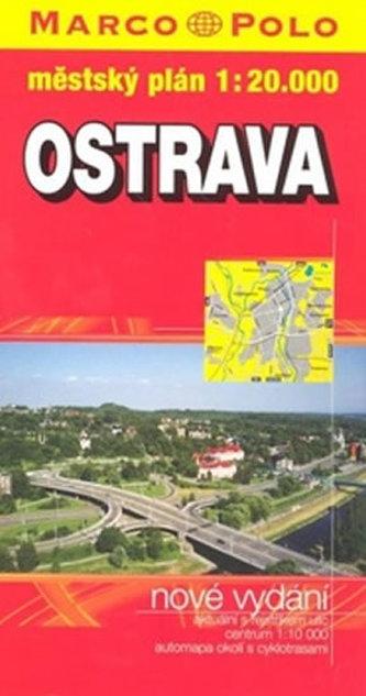 Ostrava - plán tvrdá obálka PS 1:20 000