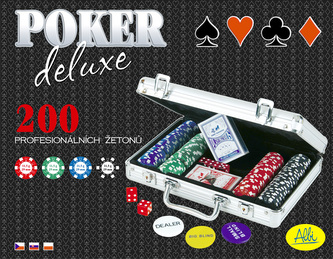 Poker Deluxe 200 žetonů v kufříku