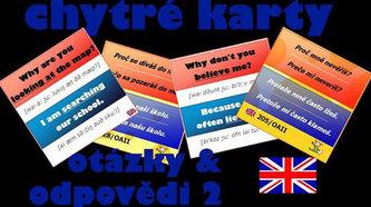 Chytré karty - Angličtina otázky a odpovědi 2