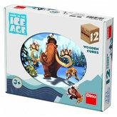 Dřevěné kostky 12 ks - Doba ledová 4