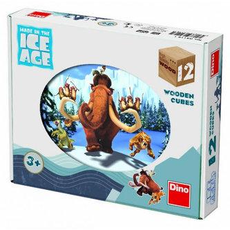 Dřevěné kostky 12 ks - Doba ledová 4 - neuveden