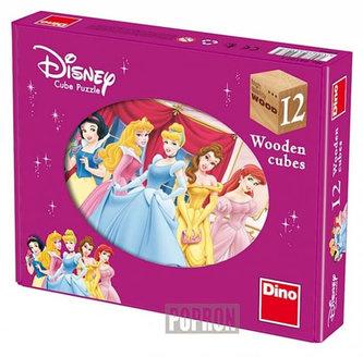 Princezny - Dřevěné kostky 12 ks - Elle D. Risco