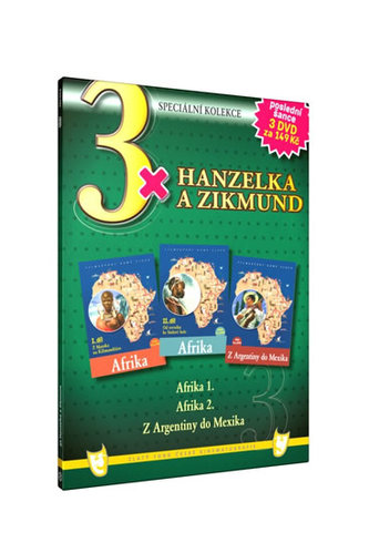 3x Hanzelka a Zikmund - 3DVD - neuveden