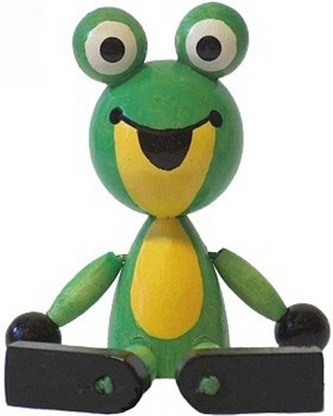 Postavička Žabka sedící