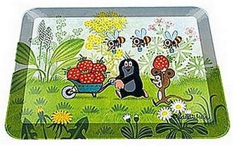Dekorační tácek s motivy Krtka - Jahody