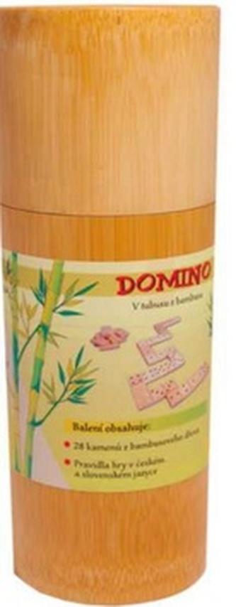 Domino V tubusu z bambusu
