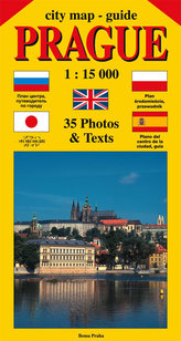 City map - guide PRAGUE 1:15 000 (angličtina, ruština, španělština, polština, japonština)