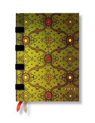 Diář French Ornate Vert 2013