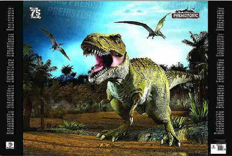Podložka na stůl A2 - Prehistoric 3D