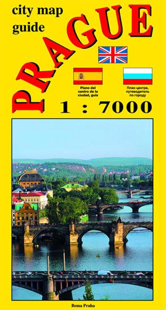 City map - guide PRAGUE 1:7 000 (angličtina, ruština, španělština)