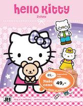 Hello Kitty-Zvířata-Samolepková knížka