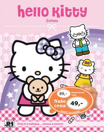 Hello Kitty-Zvířata-Samolepková knížka - neuveden