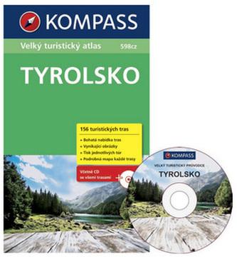 Tyrolsko - Velký turistický atlas s CD