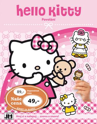 Hello Kitty-Povolání-Samolepková knížka