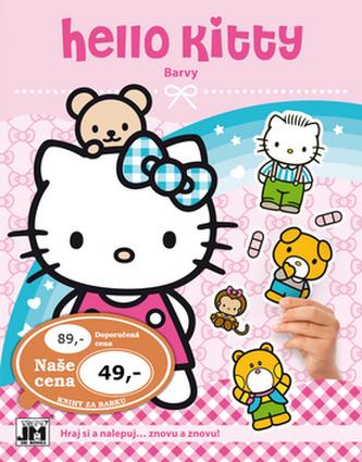 Hello Kitty-Barvy-Samolepková knížka