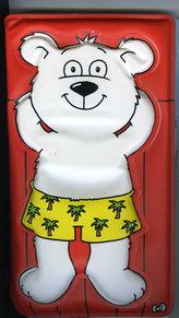 Lední medvídek - Pískací kniha do vany