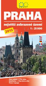Praha největší zobrazované území 2013