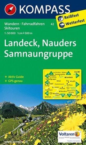 Kompass Karte Landeck, Nauders, Samnaungruppe