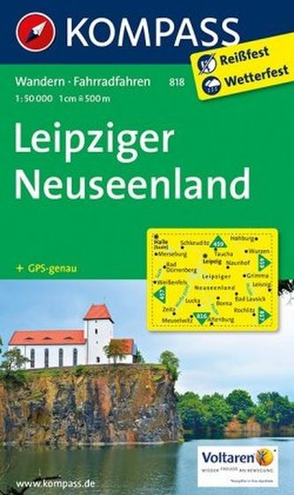 Kompass Karte Leipziger Neuseenland