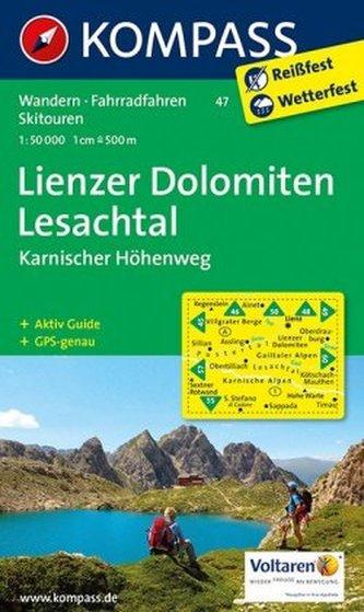 Kompass Karte Lienzer Dolomiten, Lesachtal, Karnischer Höhenweg