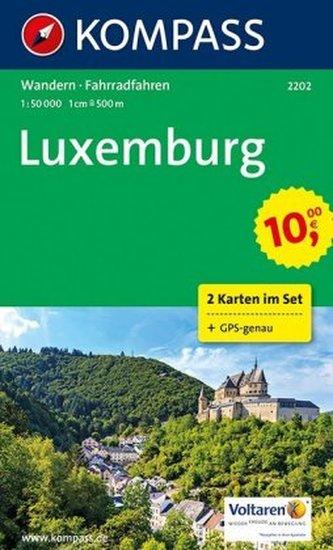 Kompass Karte Luxemburg, 2 Bl. m. Kompass Naturführer Mein Tourenpass