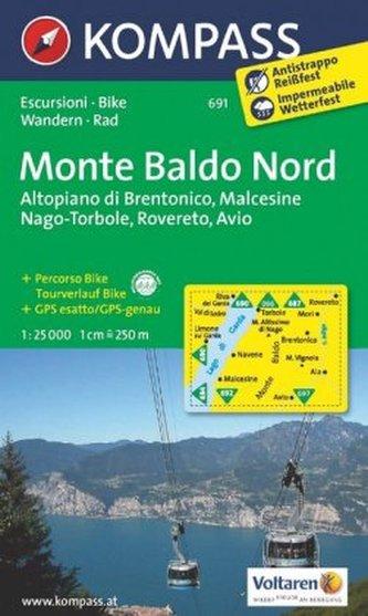 Kompass Karte Monte Baldo Nord