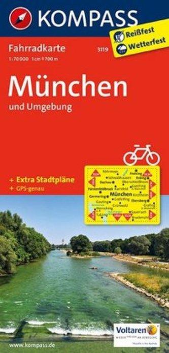 Kompass Fahrradkarte München und Umgebung