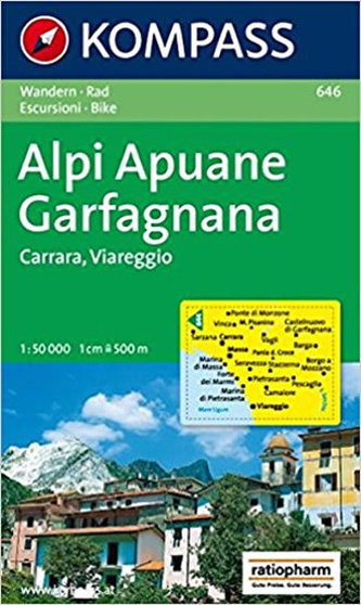 Alpi Apuane,Garfagnana 646 / 1:50T KOM