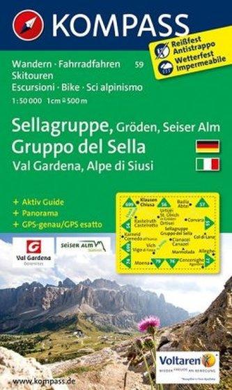 Sellagruppe,Gruppo di Sella 59 / 1:50T NKOM