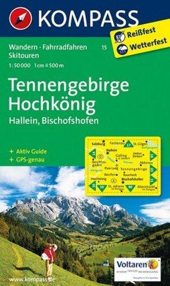 Kompass Karte Tennengebirge, Hochkönig