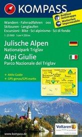 Kompass Karte Julische Alpen. Alpi Giulie