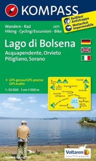 Kompass Karte Lago di Bolsena