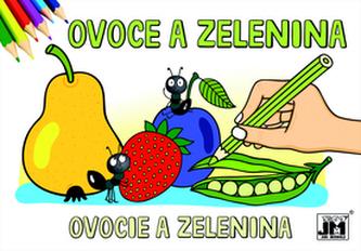 Ovoce a zelenina - omalovánka
