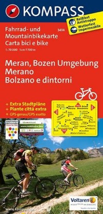 Kompass Fahrradkarte Meran, Bozen Umgebung. Merano, Bolzano e dintorni