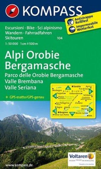 Kompass Karte Alpi Orobie Bergamasche