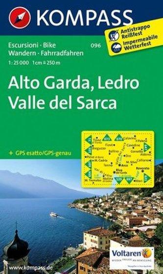 Kompass Karte Alto Garda, Ledro, Valle del Sarca