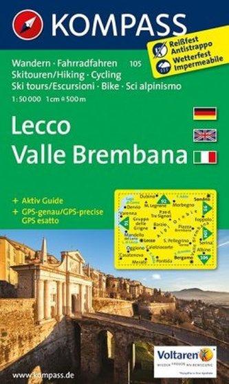 Kompass Karte Lecco, Valle Brembana