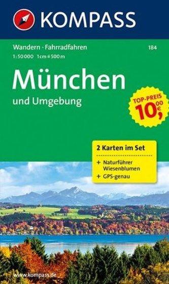 Kompass Karte München und Umgebung, 2 Bl. m. Kompass Naturführer Wiesenblumen
