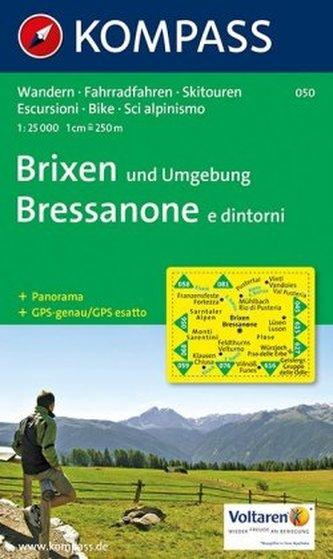 Kompass Karte Brixen und Umgebung. Bressanone e dintorni