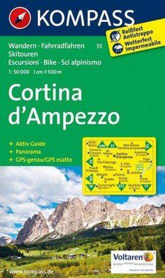 Kompass Karte Cortina d' Ampezzo