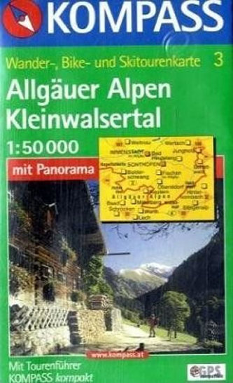 Allgäuer Alpen,Kleinwalsertal 3 / 1:50T KOM