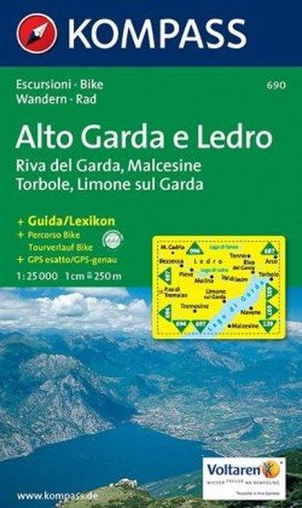 Kompass Karte Alto Garda e Ledro