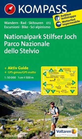 Kompass Karte Nationalpark Stilfserjoch. Parco Nazionale dello Stelvio