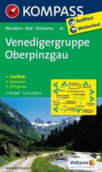 Kompass Karte Venedigergruppe, Oberpinzgau