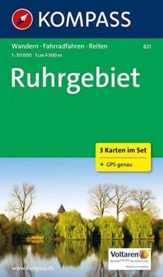 Kompass Karte Ruhrgebiet, 3 Bl.