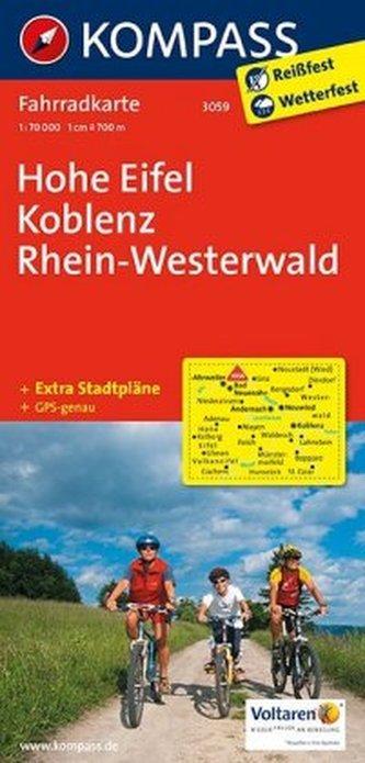 Kompass Fahrradkarte Hohe Eifel, Koblenz, Rhein-Westerwald