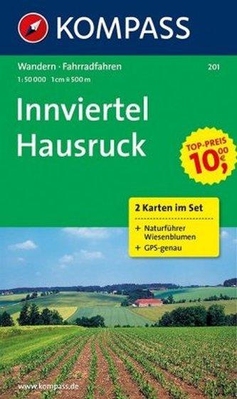 Kompass Karte Innviertel, Hausruckwald, 2 Bl. m. Kompass Naturführer Wiesenblumen