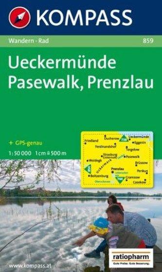 Kompass Karte Ueckermünde, Pasewalk, Prenzlau